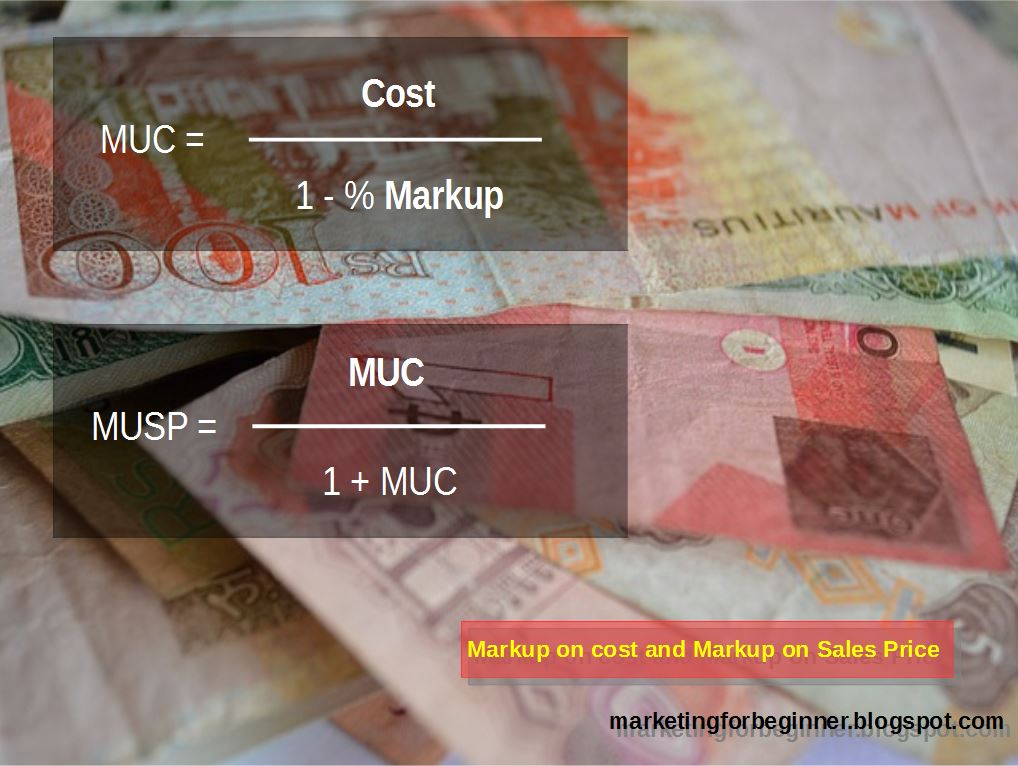 sales and markup Gross profit is the difference between the sales price (revenue) and your cost in  the example  markup is gross profit as a percentage of sales if gross profit is.
