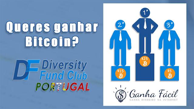 diversity Fund concurso Bitcoin grátis ganha prémio