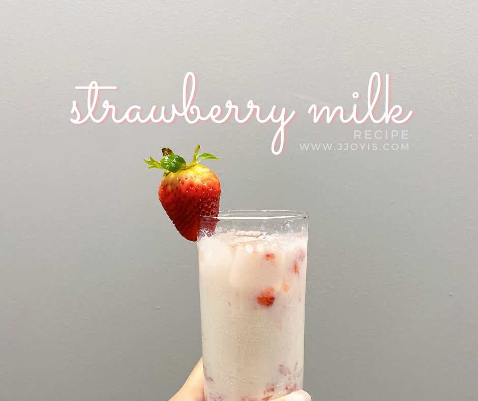 strawberry milk recipe easy