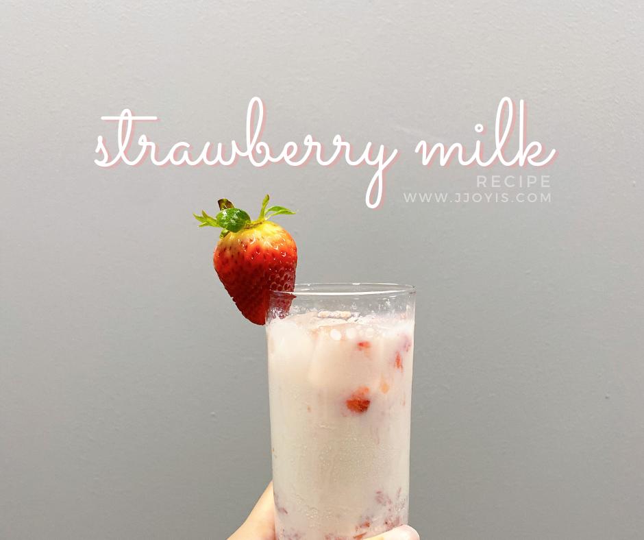 strawberry milk recipe easy