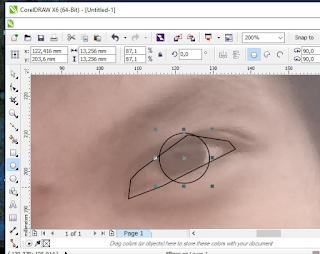 membuat vektor wajah jadi kartun di coreldraw pict