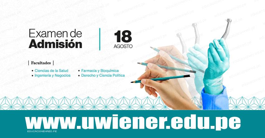 Resultados UWIENER 2019 (Domingo 18 Agosto) Lista de Ingresantes - Examen de Admisión - Prueba de Aptitud - Universidad Norbert Wiener - www.uwiener.edu.pe