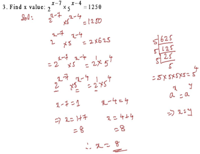 Find x value by equating bases