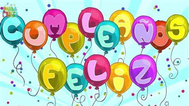 Tarjeta feliz cumpleaños con globos