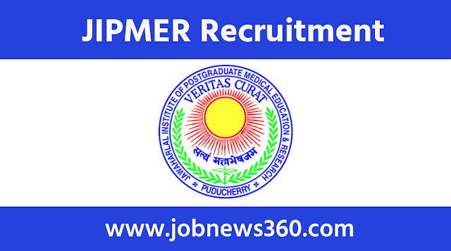 JIPMER Puducherry Recruitment 2020 for Research Assistant