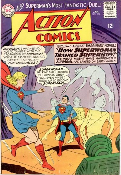 Episode #391 Part IV: Superman Comic Book Cover Dated January 1966: Action Comics #332!