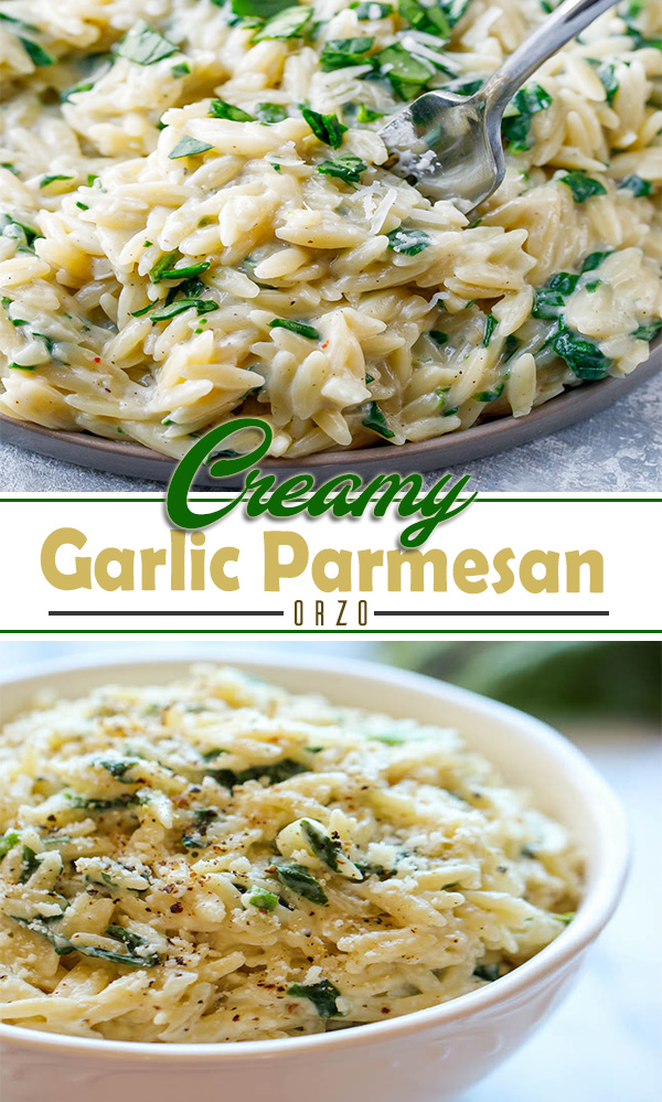 Creamy Garlic Parmesan Orzo  | very easy to make. You only need about 15 minutes and after that the food is ready to eat. This meal is very suitable when used for side dishes, but this food can also be eaten alone. #recipes #breakfast