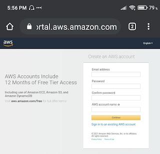 How To Host Website On AWS - Create AWS Account