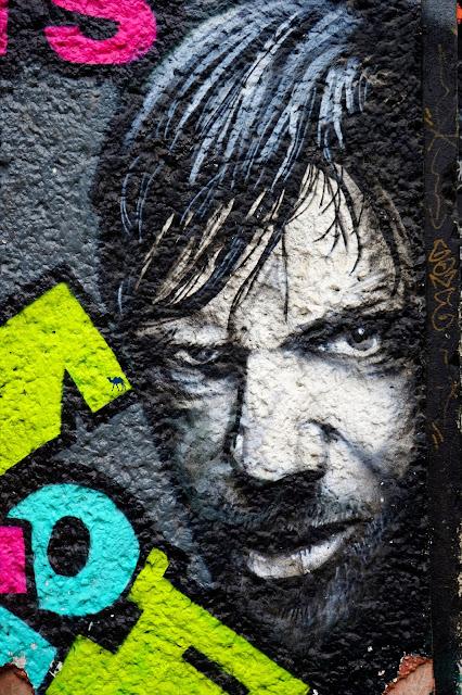 Le Chameau Bleu - Street Art - Visage Berlin Allemagne