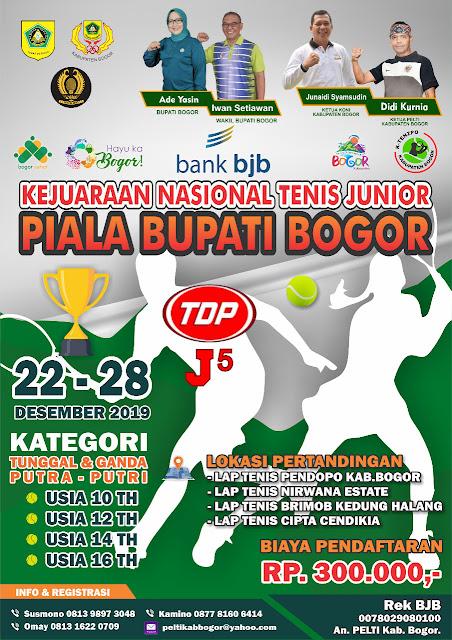 Kejurnas Tenis Yunior Piala Bupati Bogor