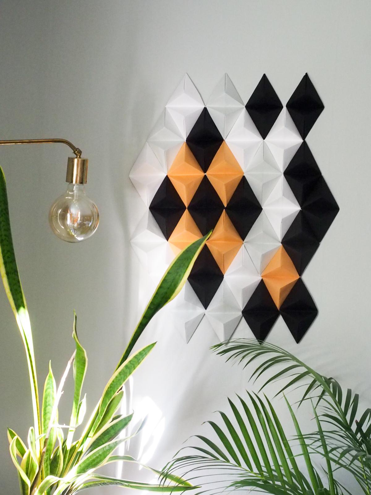 origami seinäkoriste