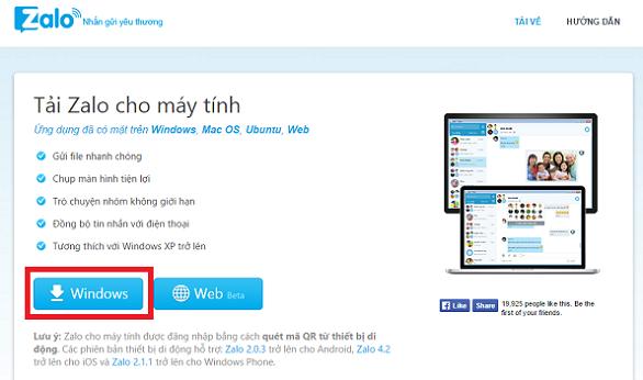 Download Zalo cho PC - Tải Zalo về Máy Tính miễn phí b