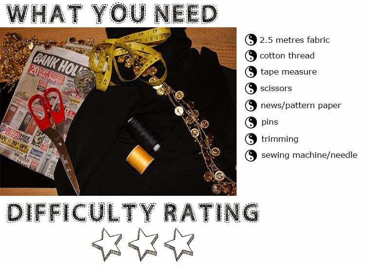 what you need to make a kimono, crafting kit, how hard is it to make a kimono, homemade kimono difficulty rating