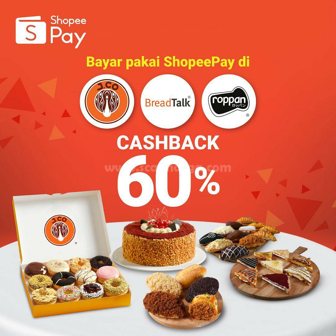 JCO Promo Cashback 60% [Rp 20 Ribu] Bayar Pakai ShopeePay