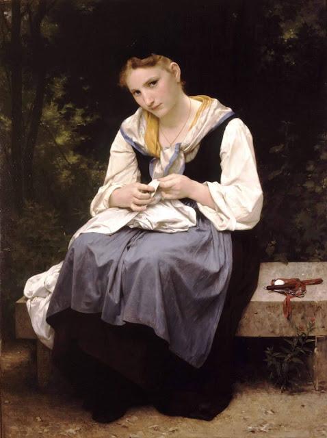 Адольф Вильям Бугро - Юная работница (1869)