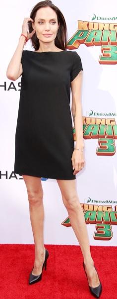 Foto de Angelina Jolie extremadamente delgada