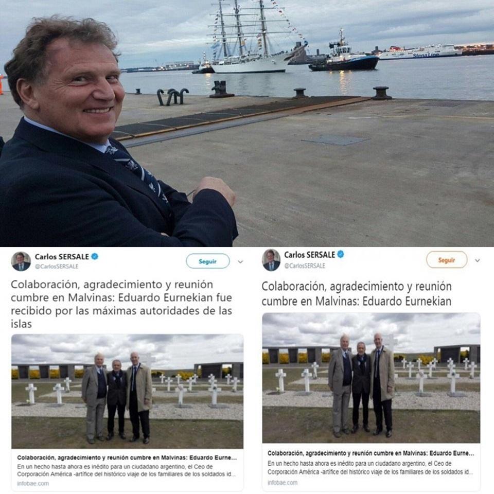 Denuncia a embajador argentino por Malvinas