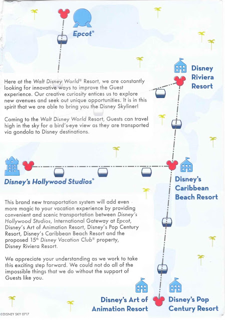 Disney Skyliner Informative Pamphlet