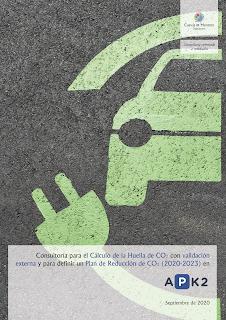 Contrato firmado entre Cuevas y Montoto Consultores y APK2 Gestión de Aparcamientos para el cálculo de su Huella de Carbono en 2019 y para reducir sus Emisiones de Gases de Efecto invernadero de 2020 a 2023