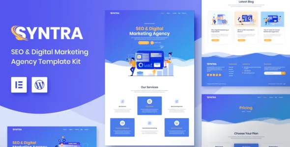 Best SEO & Digital Marketing Agency Template Kit