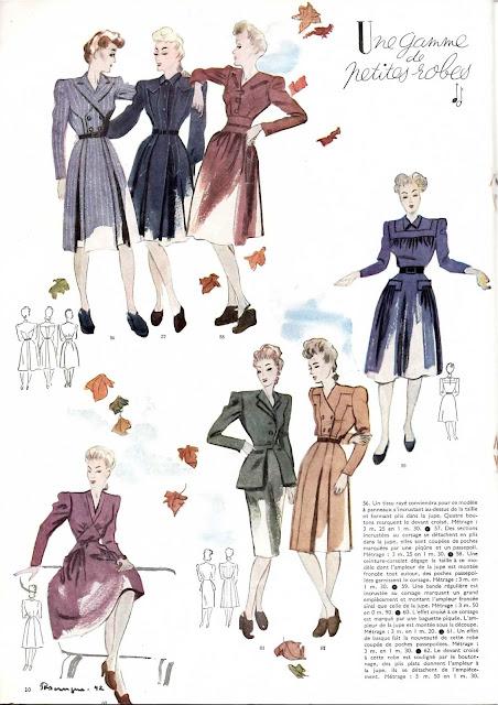 magazine mode et travaux octobre 1942 une gamme de petites robes