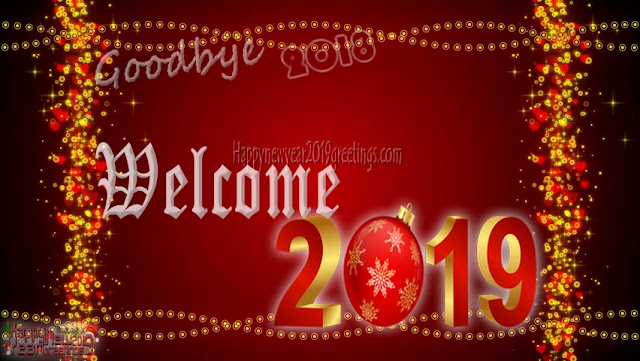 Welcome Happy New Year 2019 Photo Wishes Greetings