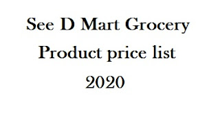 D Mart Grocery product price list