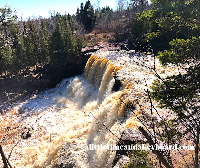 Thunderous Gooseberry Falls along Lake Superior in Minnesota amazes from all vantage points.