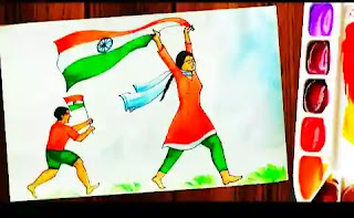 Happy Indipendece Day Drawing 2020