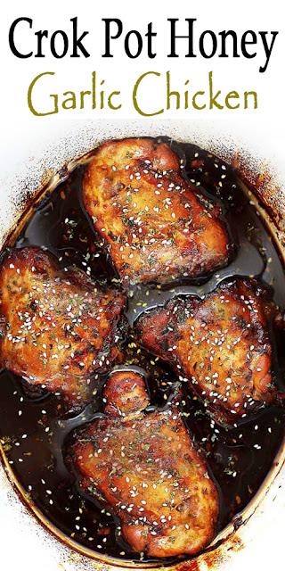 Crock Pot Honey Garlic Chicken Recipe [+Video]
