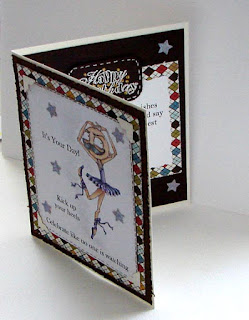 Inside of Kick Up Your Heels card - colours and cards