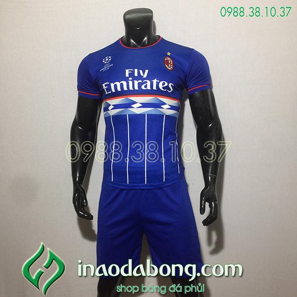 Áo bóng đá training CLB AC Milan màu xanh 2020