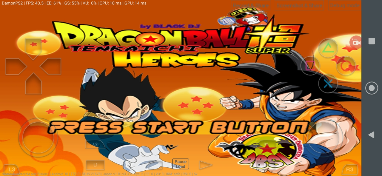 Dragon Ball Super Tenkaichi Heroes BT3 MOD PS2 ISO Download