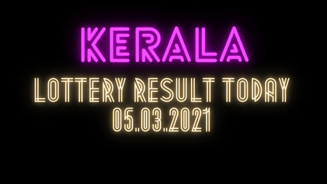 Kerala Lottery Result Today Live 05.03.2021 Out Nirmal Lottery Result