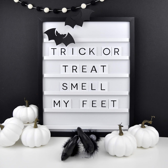 Die Cuts with a View Halloween Letterboard by Jen Gallacher #letterboard #halloweendiy #halloween #dcwv #jengallacher