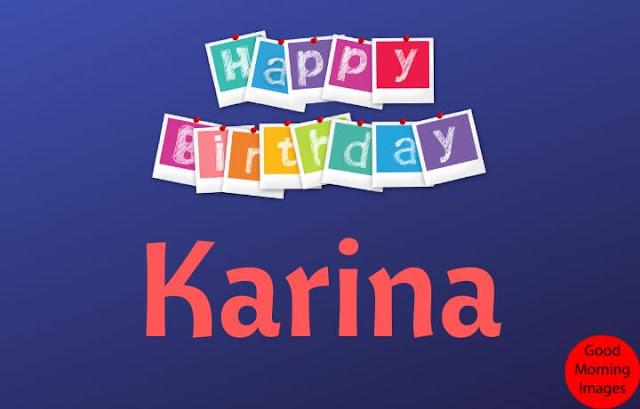 Happy Birthday Karina