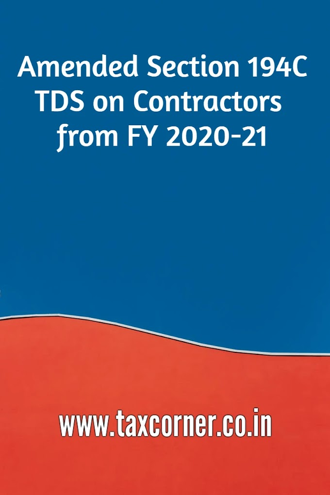 Amended Section 194C-TDS on Contractors from FY 2020-21