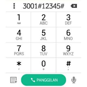 Dial Pad untuk cek kekuatan sinyal iOS