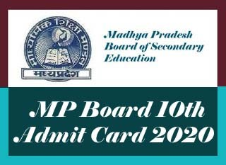 MP Online Admit card 2020, MPBSE Roll Number 2020, MP Board Admit card 2020, MP Board 10th Roll Number 2020