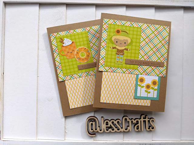 Fall Cards with Doodlebug Designs Pumpkin Spice Paper Pad by Jess Crafts