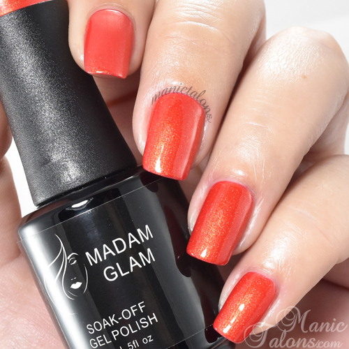 Madam Glam Gel Polish Sexy Red Swatch