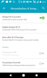 cara mengaktifkan hotspot wifi menggunakan http injector