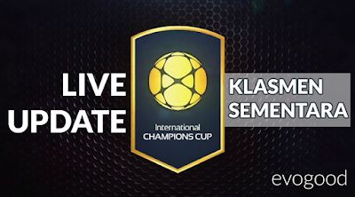 LIVE UPDATE : Klasmen Sementara International Champions Cup - ICC 2016