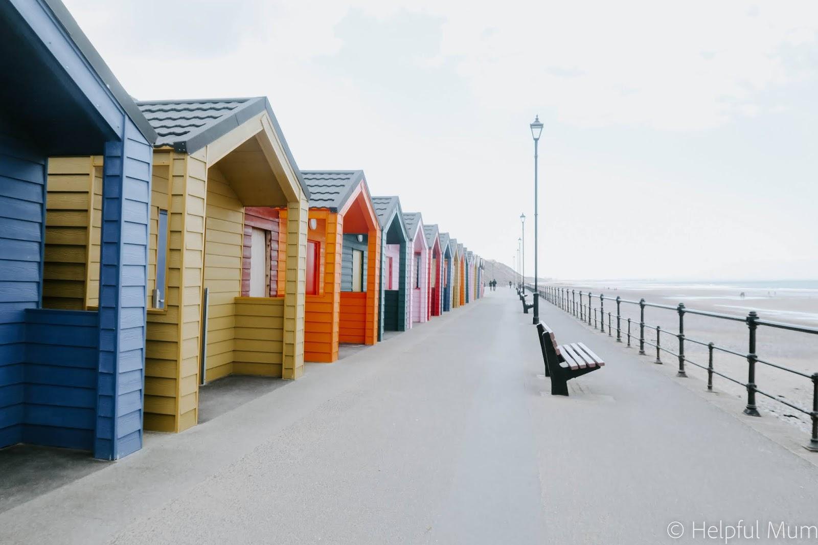 Beach huts saltburn