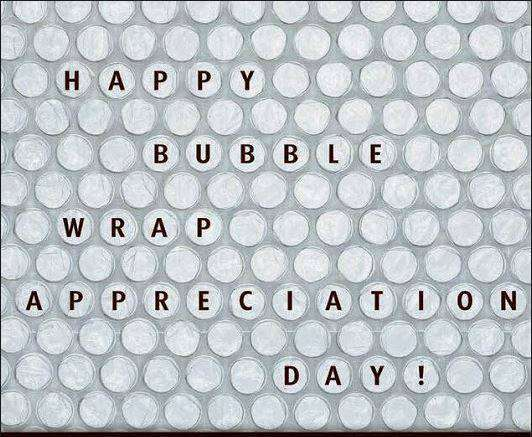 National Bubble Wrap Appreciation Day Wishes Beautiful Image