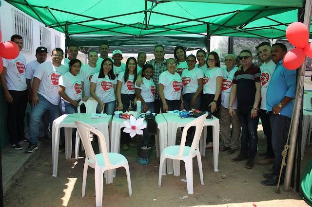 Prefeito Tomé Portela e equipe inauguram UBS da localidade Miguel Alves em Aroazes