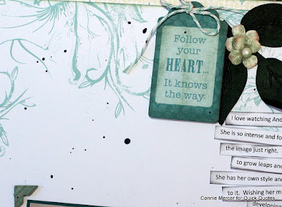 Believe in Yourself Scrapbook Page featuring Windsong Collection Pack and PowderPuff Chalk Inks for Quick Quotes designed by Connie Mercer