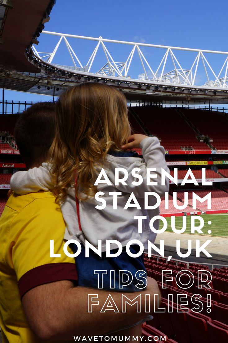 Arsenal Stadium in London UK. Family review of the Arsenal Stadium tour. What the Arsenal Stadium Tour is like, and some top tips if you take your kids with you!
