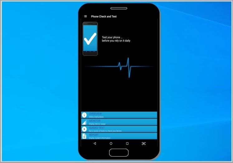 Phone Check  : Τεστάρετε και δείτε τις δυνατότητες της συσκευής σας