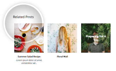 related posts widget, blogger widget